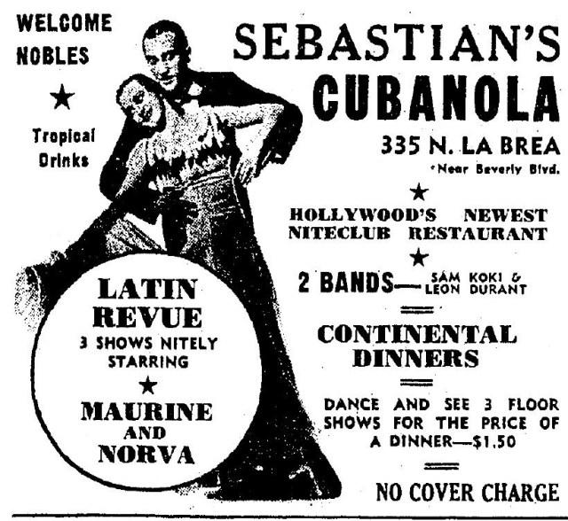 Sebastian's Cubanola 335 N. La Brea Ave