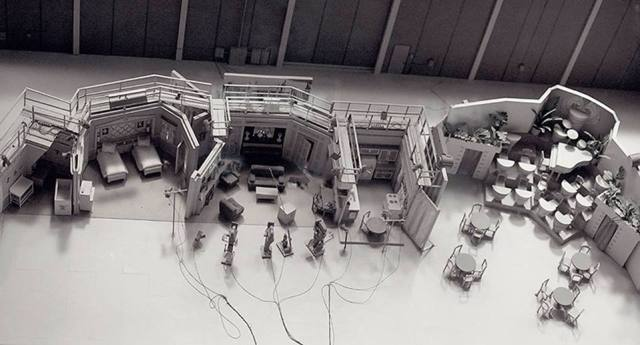 "Overhead shot of all the ""I Love Lucy"" sets"