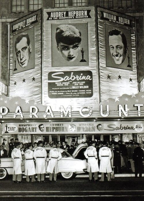 """The Hollywood premiere of """"Sabrina"""" (1954)"""