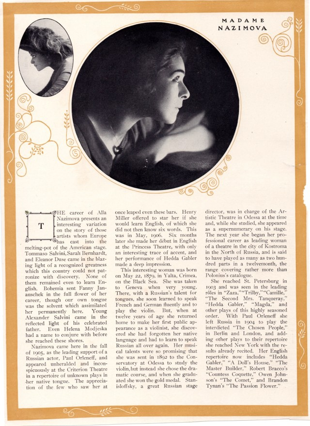 """1909 book """"Stage Actors of Today"""" by William Winter small 4"""