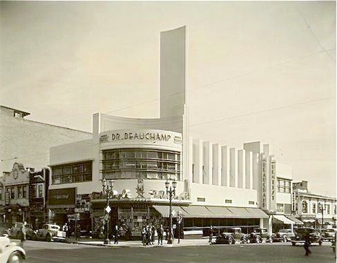 Dr. Beauchamp Dentistry, corner Hollywood and Cahuenga, 1935