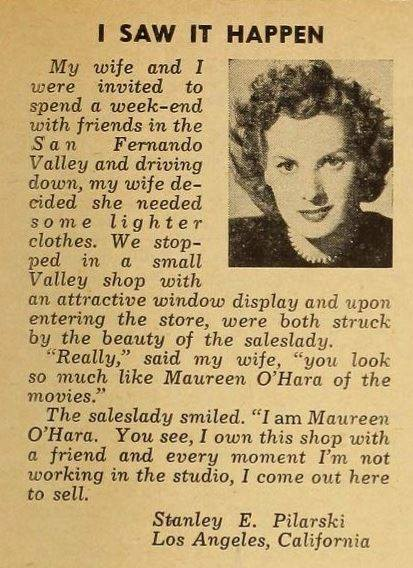 Maureen O'Hara's Seasonal Clothes