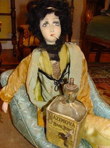 Rare French doll of Alla Nazimova