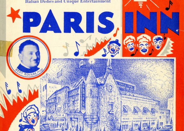 Paris Inn menu cover