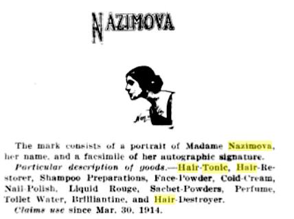 Nazimova hair tonic