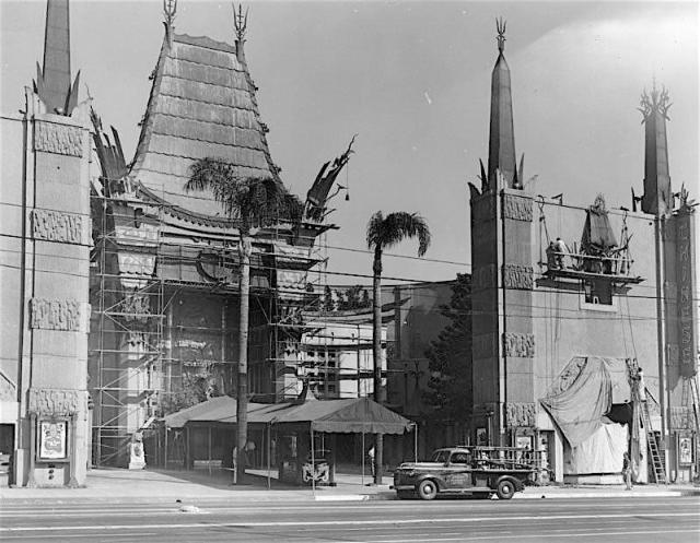 Grauman's Chinese Theatre under construction, 1927
