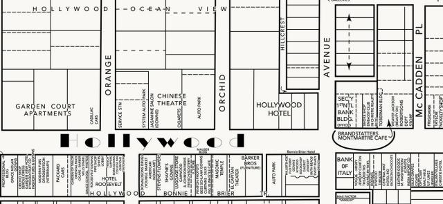 Hollywood Blvd map circa 1930 -1