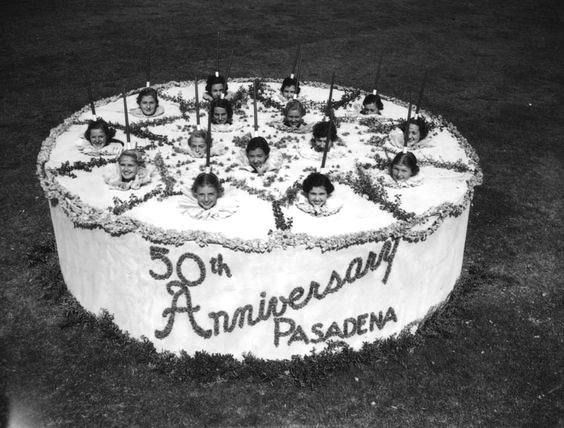 Pasadena 50th Anniversary girl cake