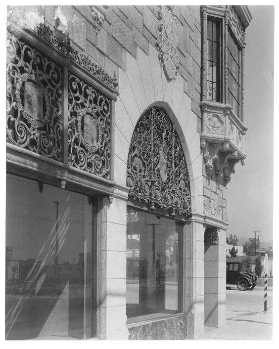 Exceptional grillwork at 8701 Santa Monica Blvd, West Hollywood, 1929