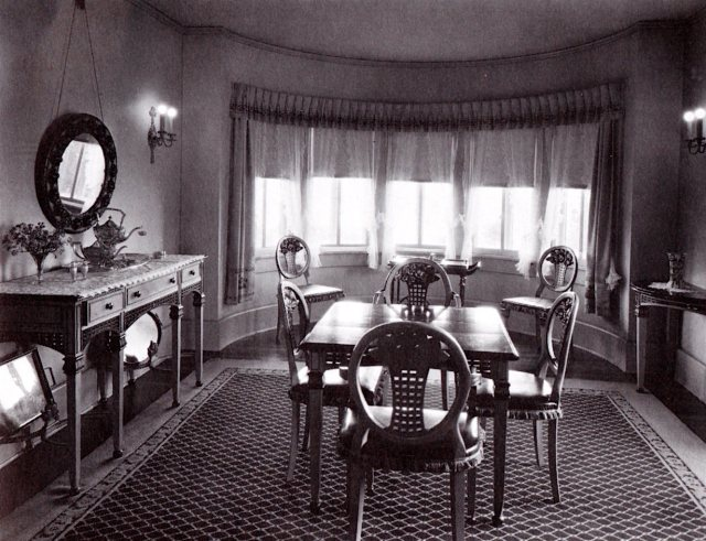 The breakfast nook at Pickfair, Beverly Hills, 1920s