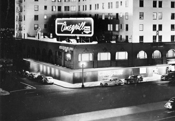 The Cinegrill at the Hollywood Roosevelt Hotel, 1940s