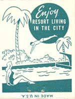 Enjoy resort living in the city Garden of Allah matchbook