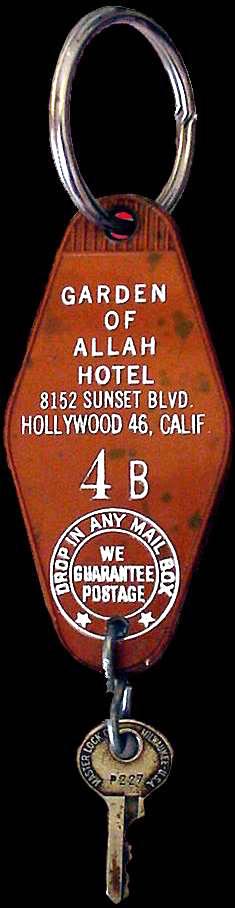 Garden of Allah Hotel keychain.