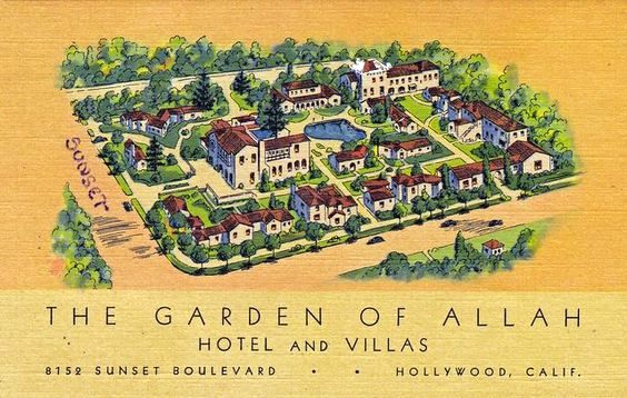 The Garden of Allah Hotel advert