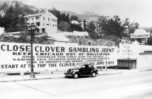 """Keep Chicago out of Hollywood- Close Clover Club Gambling Joint."""