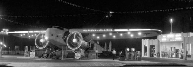 Bob's Airmail Night View circa 1938