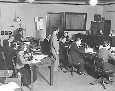 Central Casting office, Hollywood, 1929