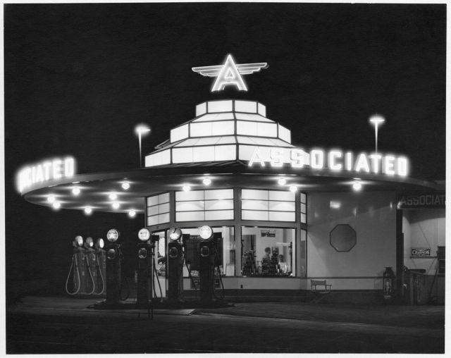 Flying-A gas station, Los Angeles, California