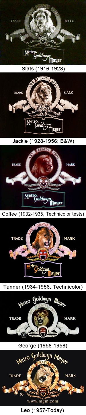 The Evolution of the Metro-Goldwyn-Mayer lion logo