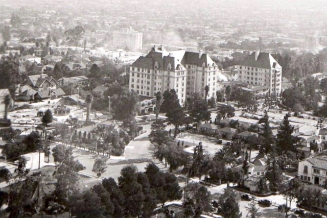 The Garden of Allah Hotel and surrounds, Sunset Blvd, circa late 1920s