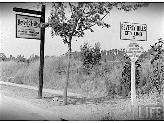 Beverly Hills city limits, circa 1920s