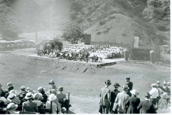 Concert on the site of the Hollywood Bowl, 1921