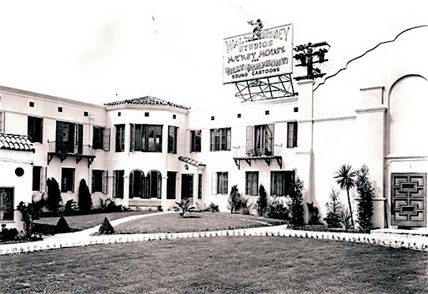 The original Disney Studio (1926-1940) at 2710-2729 Hyperion Ave, Los Feliz, 1931