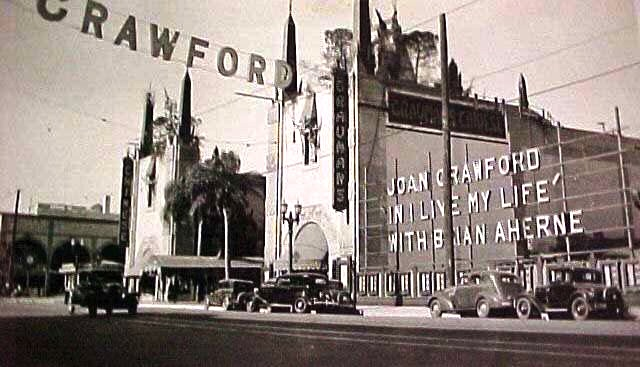 """I Live My Life"" starring Joan Crawford plays Grauman's Chinese Theatre in 1935."