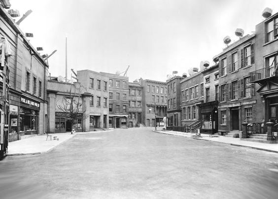 "The ""New York Street"" set on the Paramount back lot, 1934"