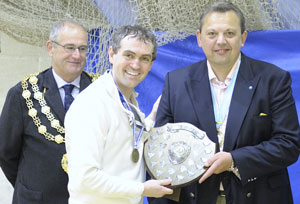 Martin Turner receives the Much Wenlock Olympian Games fencing trophy