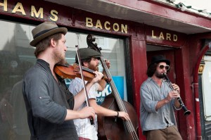 Klezmer/Gypsy band Payazén busking in York