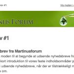 Første nyhedsbrev fra Martinusforum udkommet