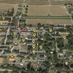 Google Earth kort over Martinus Center Klint