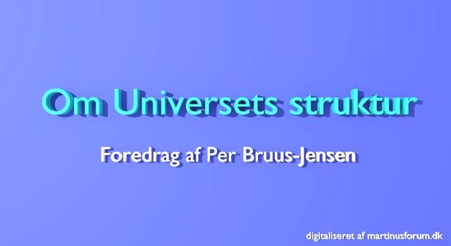 Om universets struktur