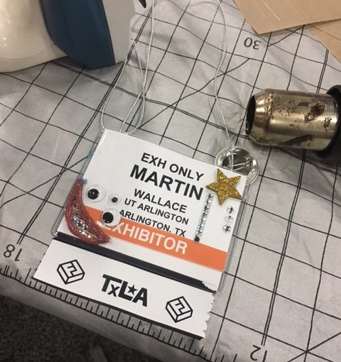 Martin's Blinged Badge