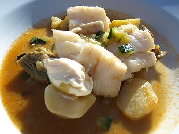 guiso de bacalao con verduras