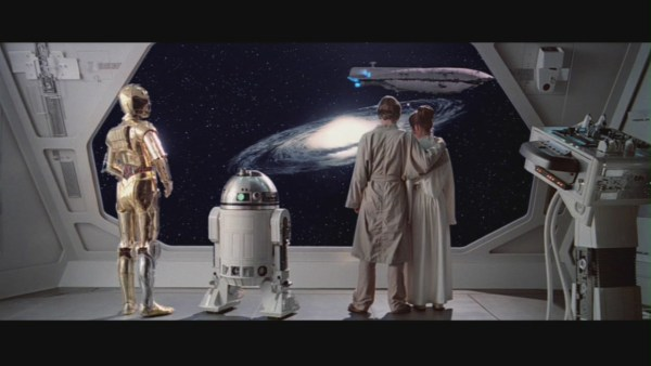 Luke Skywalker and company at the end of The Empire Strikes Back. Credit by Lucasfilm