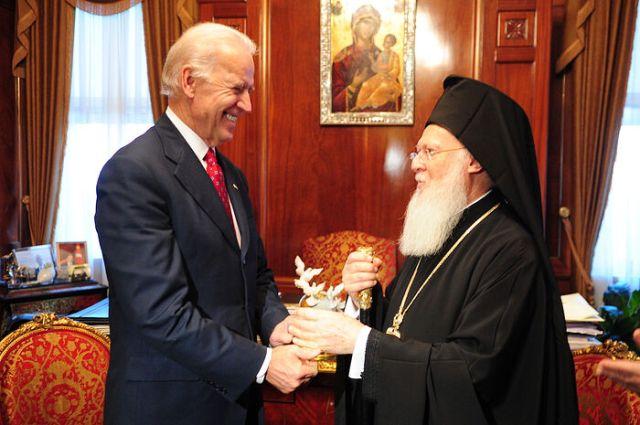 """Scrisoarea de """"bucurie și entuziasm"""" a patriarhului Bartolomeu pentru Joe Biden, la """"alegerea"""" lui ca președinte al SUA"""