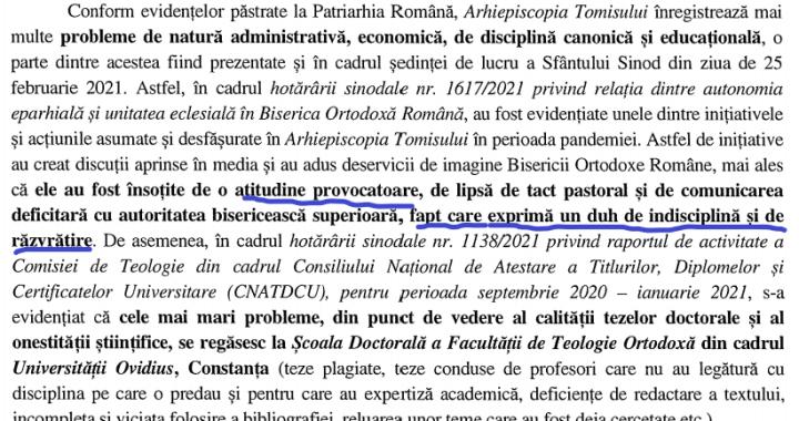 În actuala sa situație, IPS Teodosie este obligat să mărturisească contra ereziei, a sinodului din Creta și a propriilor greșeli din trecut