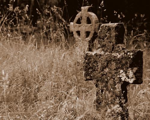 tombstone sepia