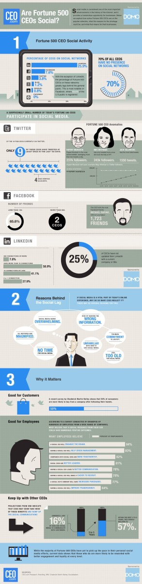 fortune 500 ceo social media use