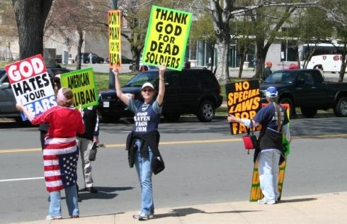 the westboro cult protestors