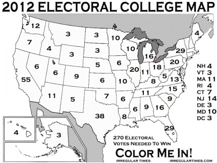 electoral college map 2012