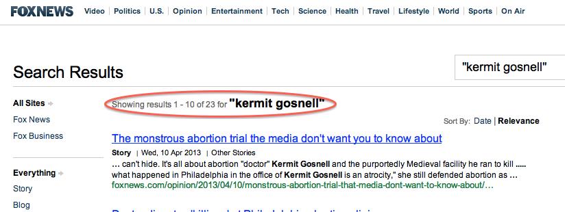 media bias in Kermit Gosnell trial