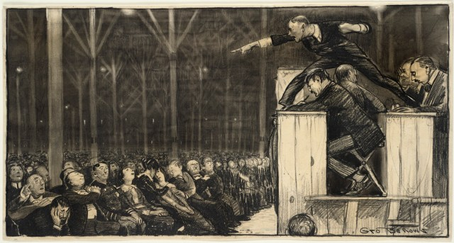 Billy Sunday preaching