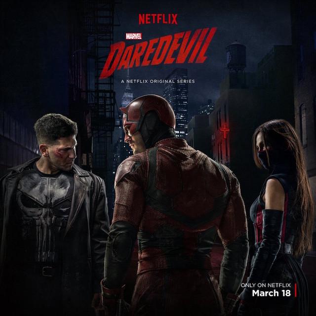 Punisher, Daredevil, Elektra Daredevil Season 2