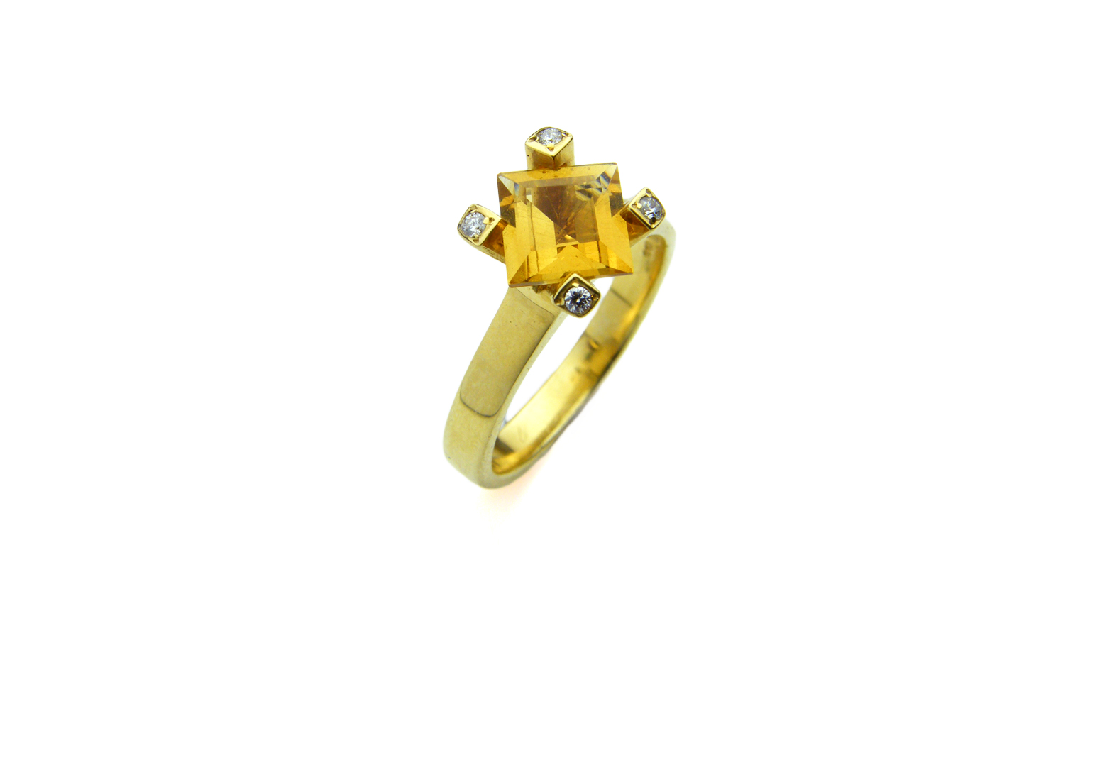 Flare Citrine Ring