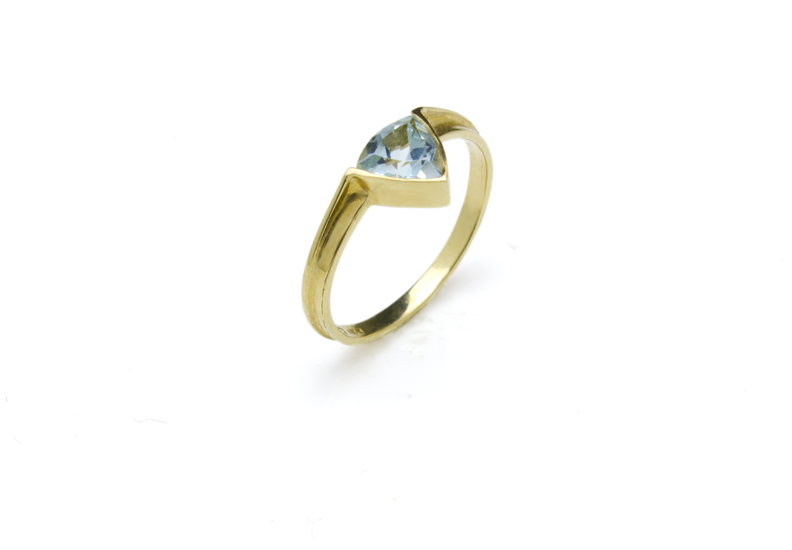 Trillion Ring – Aquamarine