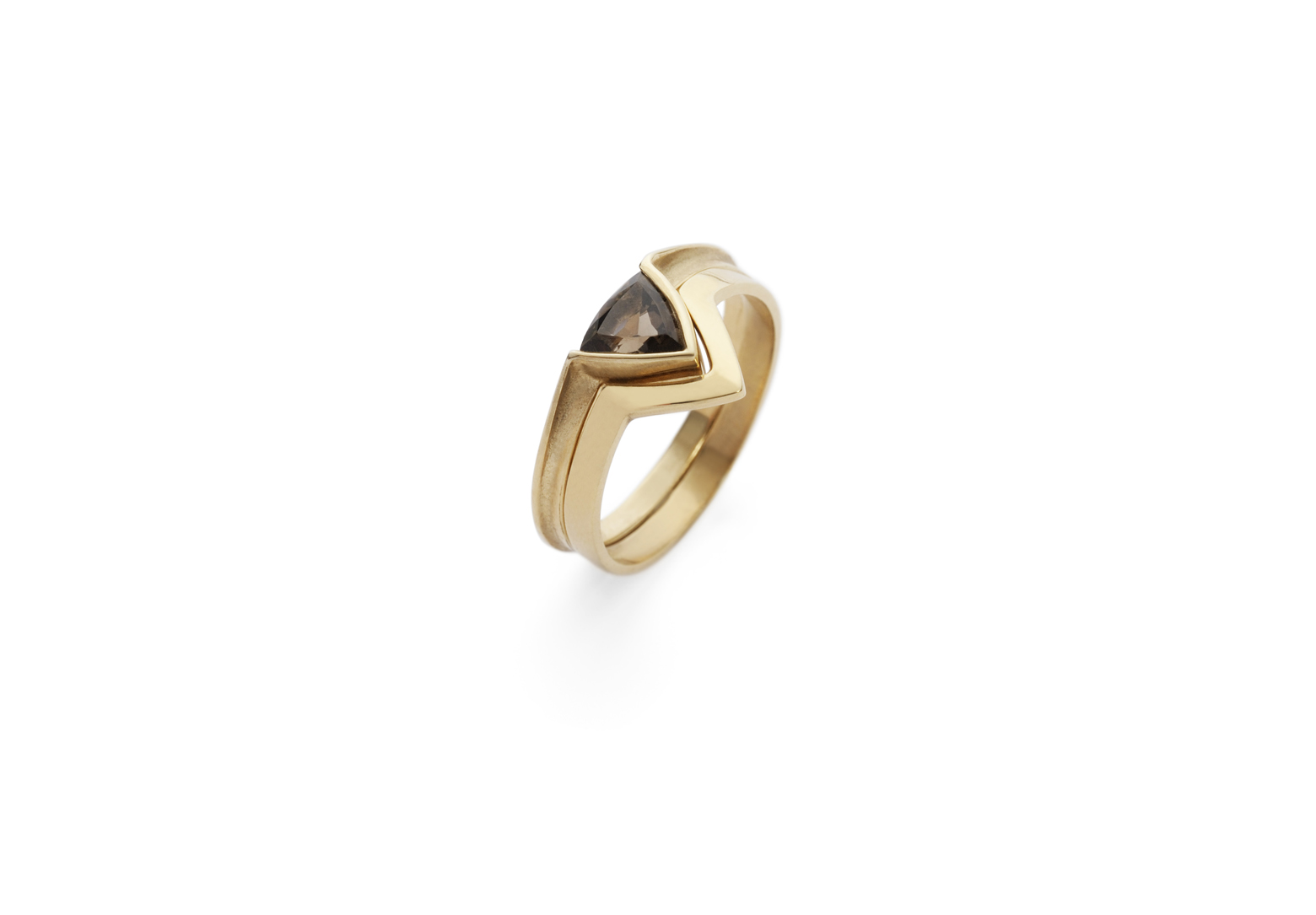 Trillion Ring – Citrine