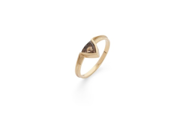 Trillion Ring – Citrine